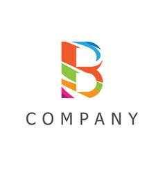 b logo vector image
