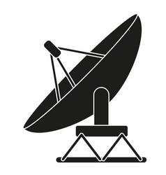 Black and white satellite antena silhouette vector