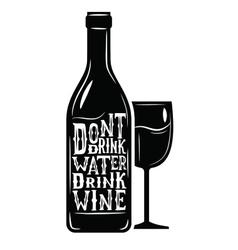 black wine icon vector image