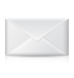 Blank realistic closed envelope Isolated vector