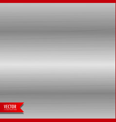 brushed metal texture background vector image vector image