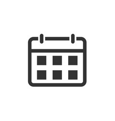 Calendar agenda icon in flat style planner on vector