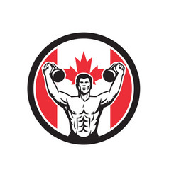 Canadian physical fitness canada flag icon vector