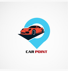 Car point with modern concept logo icon element vector