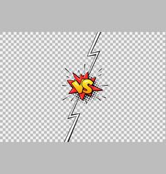 cartoon comic book versus background vector image