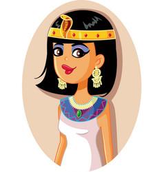 Cleopatra egyptian queen vector