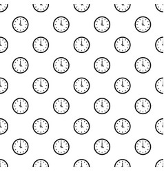 clock time pattern seamless vector image