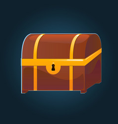 closed chest for mobile games vector image
