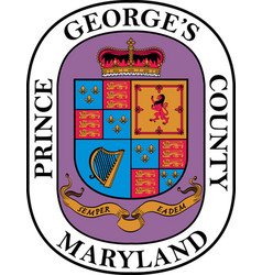 Coat arms prince georges county in maryland vector