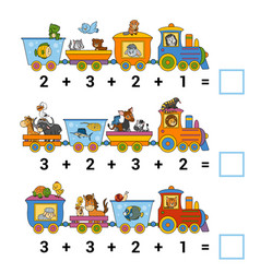 counting game for children count animals on vector image