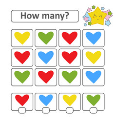 Counting game for preschool children count as vector