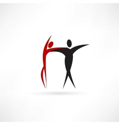 Dancer icon vector