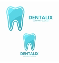 dental logo design vector image