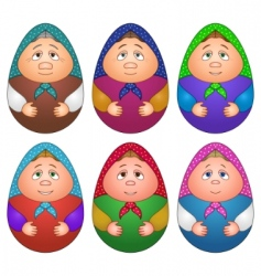 Dolls Matryoshka set vector
