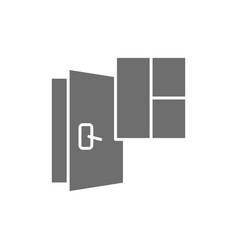 door and window installation services replacement vector image