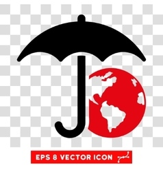 Earth Umbrella Eps Icon vector