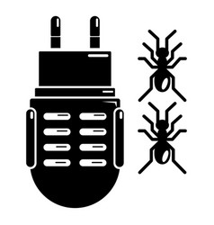 electric mosquito icon simple black style vector image