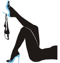 Female slender legs panties vector image