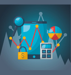Financial stock market vector