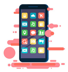 flat design smartphone vector image