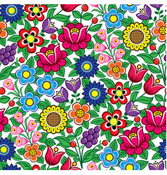 floral seamless polish folk art pattern vector image