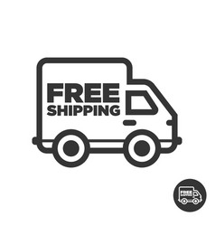 free fast delivery shipping truck icon vector image