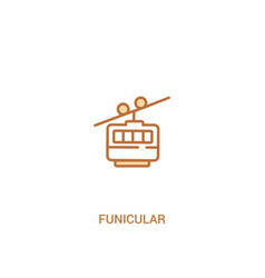 Funicular concept 2 colored icon simple line vector