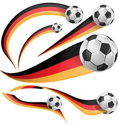 Germany flag with soccer ball vector