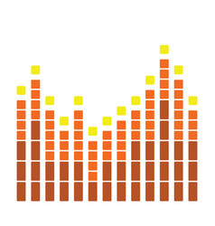 Graphic equalizer icon vector