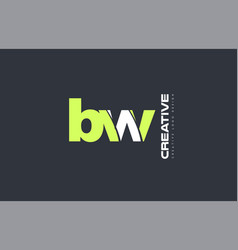 Green letter bw b w combination logo icon company vector
