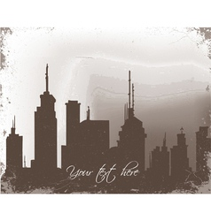 Grunge background with city vector