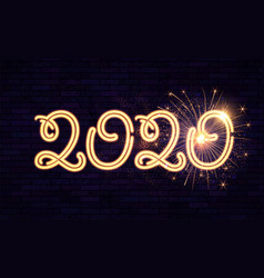 happy new 2020 year winter holiday design templat vector image
