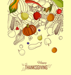Happy thanksgiving holiday celebration festival vector