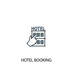 hotel booking concept line icon simple element vector image