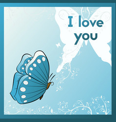 I love you e card for your beloved vector