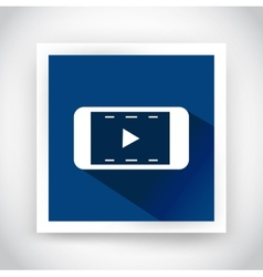 icon video for web and mobile applications vector image