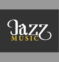 jazz musical art poster template vector image