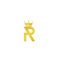 King letter r logo icon design vector