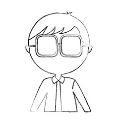 Male nerd avatar character vector