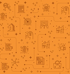 Marketing line icons background vector image