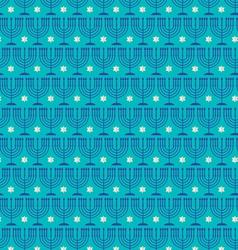 Menorah star pattern vector