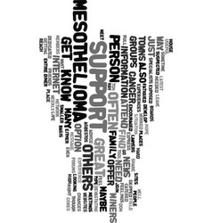 mesothelioma support text background word cloud vector image