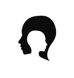 Modern head logo of company profile human vector