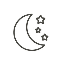 moon and stars icon line moonlight symbol vector image