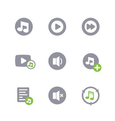 music icons on white vector image