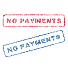 no payments textile stamps vector image