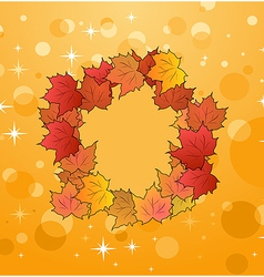 of autumn frame made in maples vector image