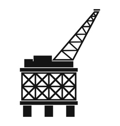 Oil platform icon simple style vector image