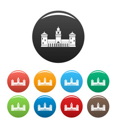 old castle icons set color vector image