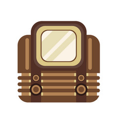 old retro television receiver vector image